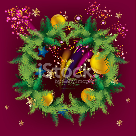 Weihnachtsbaum Girlande.Weihnachtsbaum Girlande Stock Vector Freeimages Com
