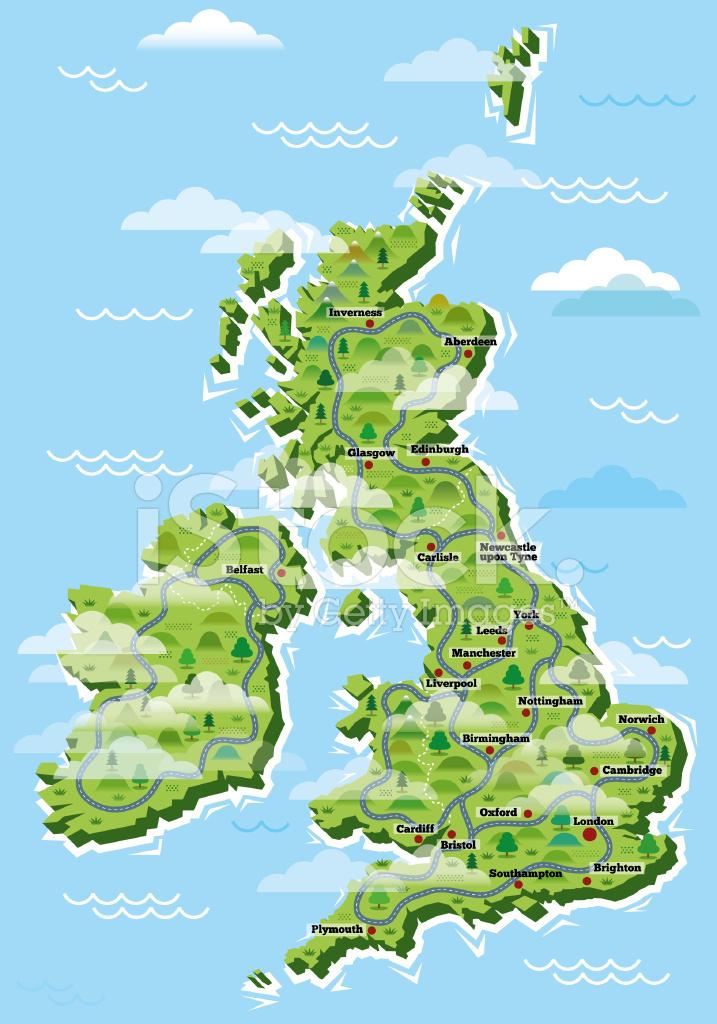 karta storbritannien Storbritannien Städer Karta Stock Vector   FreeImages.com karta storbritannien