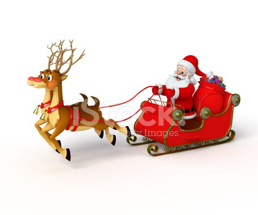 Immagini Babbo Natale Con Slitta.Babbo Natale Con Slitta Fotografie Stock Freeimages Com
