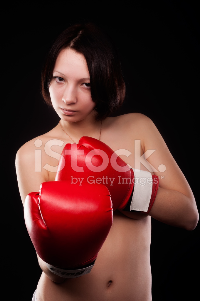 Nude Girl In Boxing Gloves