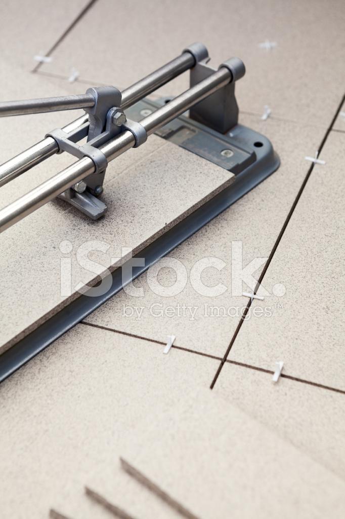 Manual Tilecutter For Cutting Of Ceramic Granite Lying On Floor