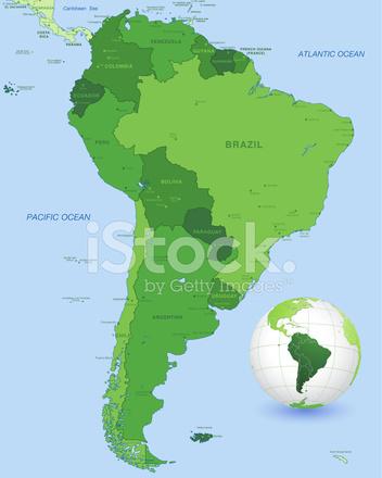 Carte Amerique Du Sud Jeu.Jeu De Carte Verte En Amerique Du Sud Stock Vector