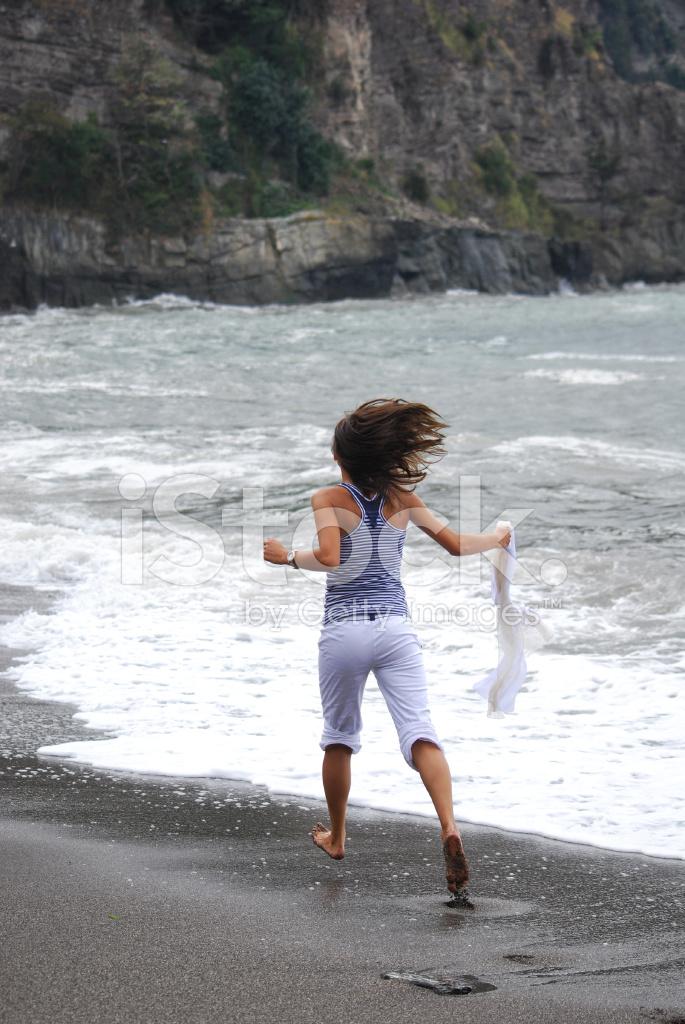 junge teen girls am strand
