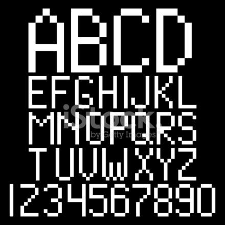 Pixel Alphabet Stock Vector - FreeImages com