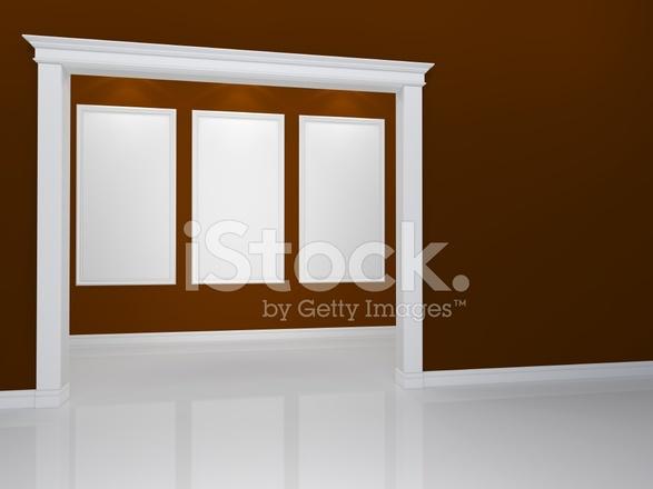 Interieur Klassieke Stijl : Interieur met een portaal in een klassieke stijl stockfoto s