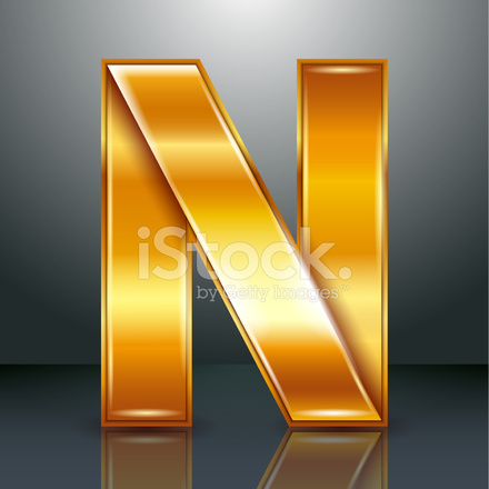 n letter in gold on quotesfab letter metal gold ribbon n stock photos freeimages 889