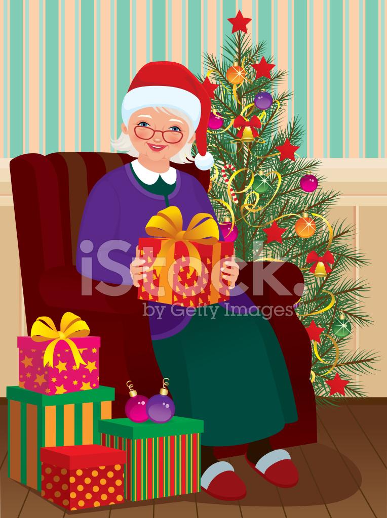 Regali Di Natale Per La Nonna.Regali Di Natale Per La Nonna Stock Vector Freeimages Com