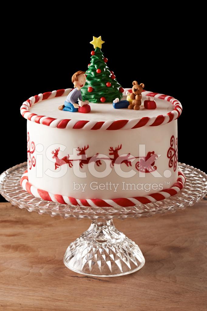 Fondant Cake For Christmas : Fondant Christmas Tree Cake stock photos - FreeImages.com