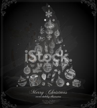 Weihnachtsbaum Gezeichnet.Weihnachtsbaum Gezeichnet Auf Tafel Stock Vector Freeimages Com