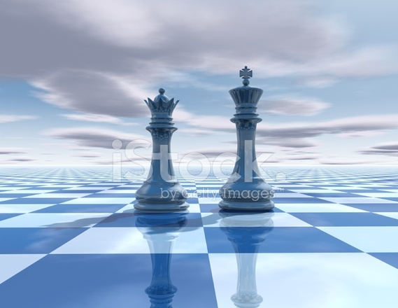 Chess Beautiful Background With Chessboard King And