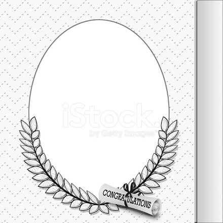 Oval Graduation Frame With Diploma Stock Photos - FreeImages.com