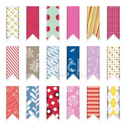 Vector Cute Scrapbooking Ribbons Design Element Stock Vector
