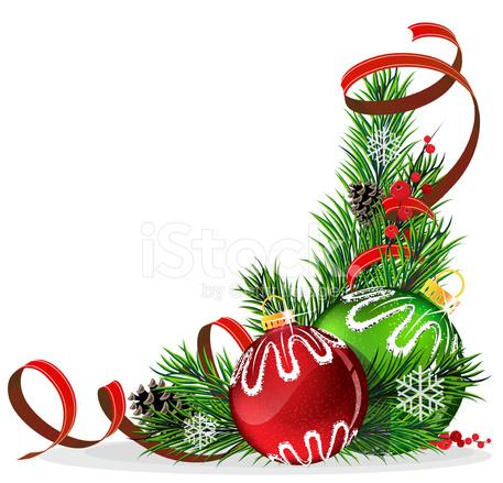 weihnachtsbaum kugeln mit roter schleife stock vector. Black Bedroom Furniture Sets. Home Design Ideas