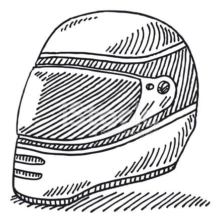 desenho do capacete de corrida stock vector freeimages com