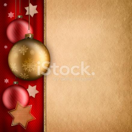 クリスマス カード テンプレート baulbles と星 ストックフォト