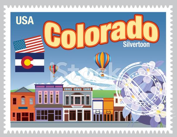 Colorado Stamps Stock Vector