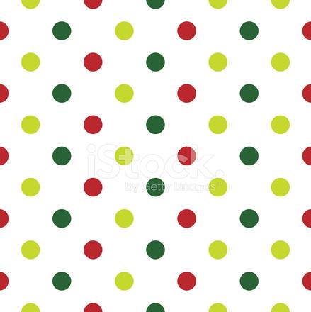 Sfondo Di Natale A Pois In Rosso Verde E Bianco Stock Vector