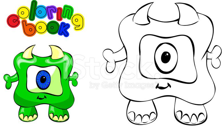 Monstruo DE Libro Para Colorear Stock Vector - FreeImages.com