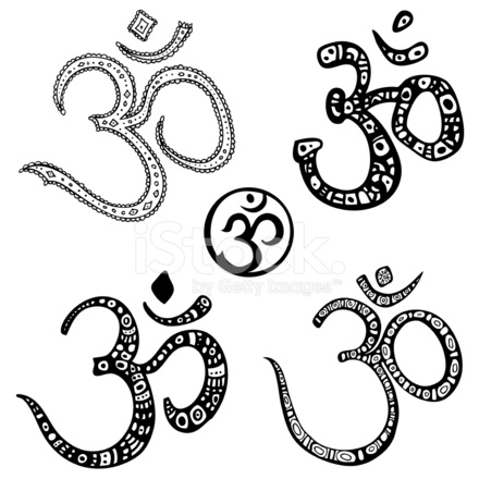 Om Aum Hand Drawn Stock Vector Freeimages