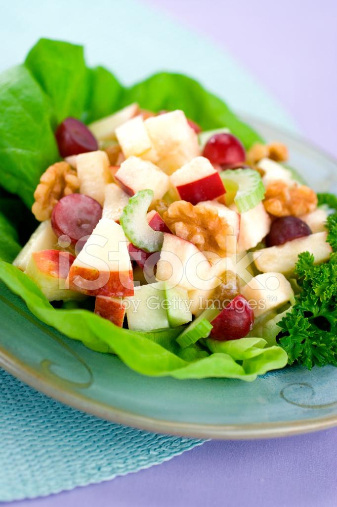 Klasik Waldorf Salatası Stok Fotoğrafları Freeimagescom