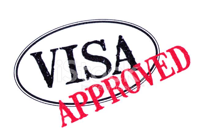 核准的护照上的签证印章 照片素材 Freeimages Com