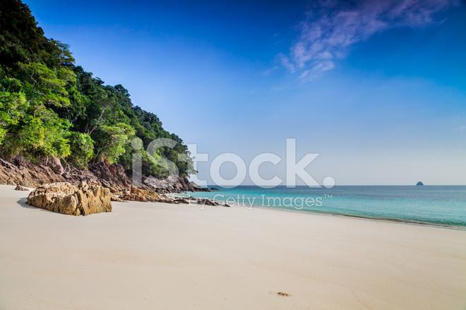 空旷的海滩上缅甸丹老群岛