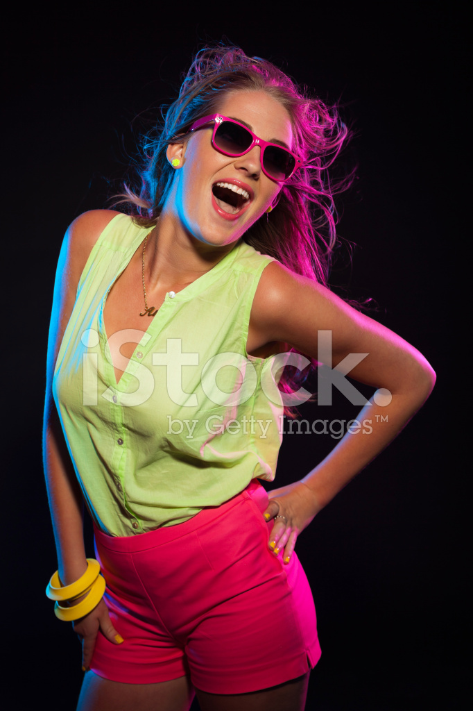 42321c6a328 Premium Stock Photo of Sexy Retro 80s Fashion Disco Girl With Long Blonde