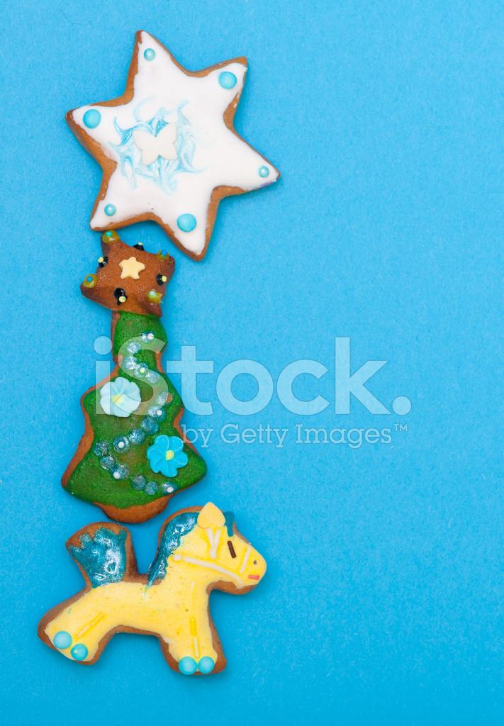 Estrella De Arbol De Navidad De Poni Jengibre Pastel Glaseado