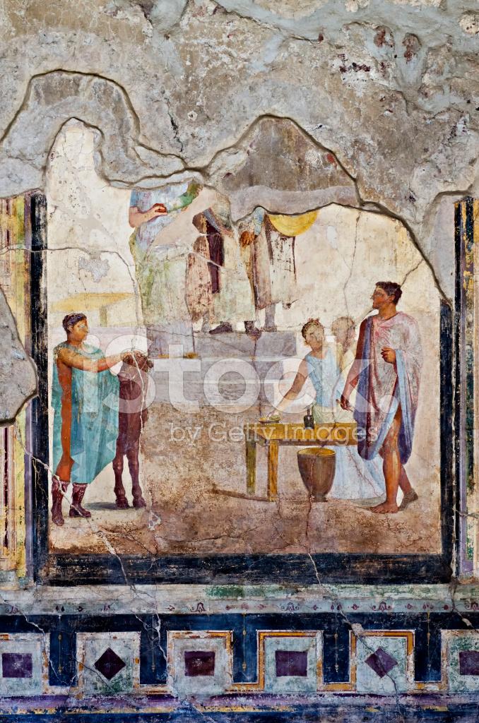庞贝壁画_在庞贝壁画、 马赛克的房子 照片素材 - FreeImages.com