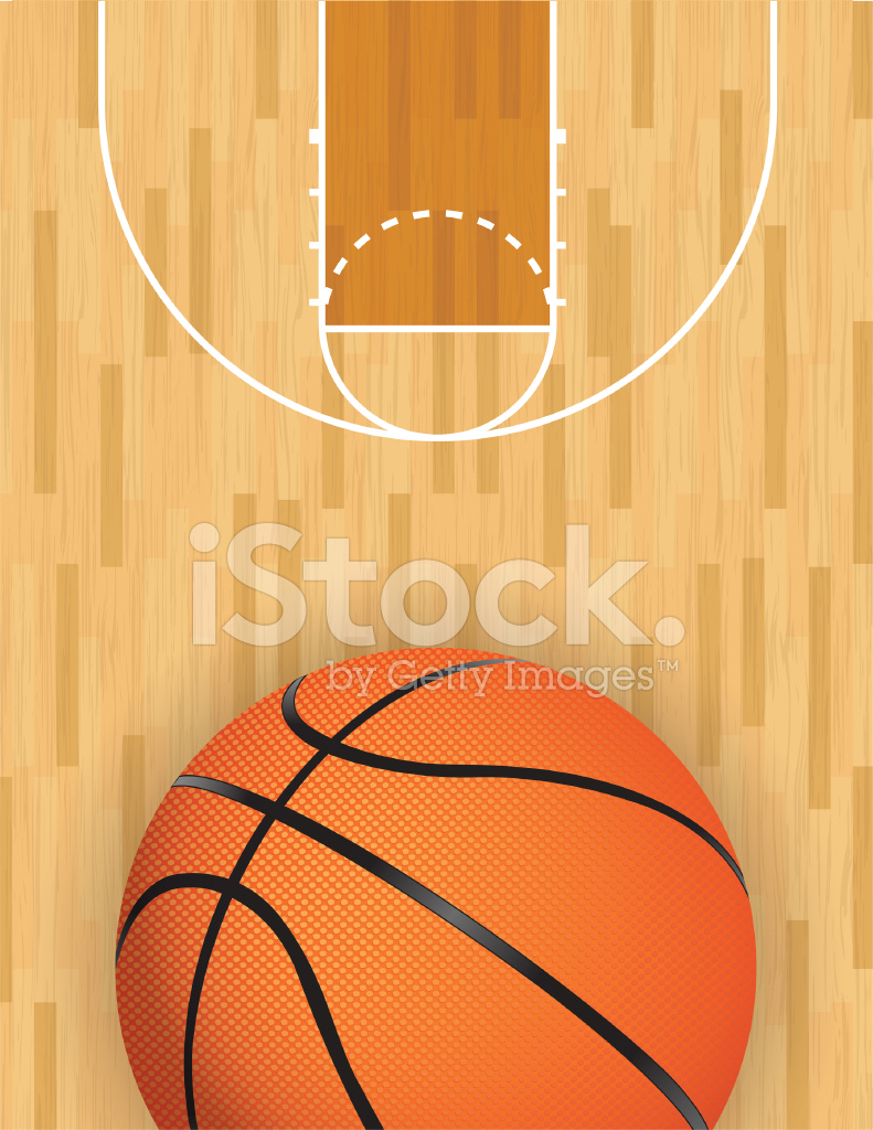 Basketball floor vector