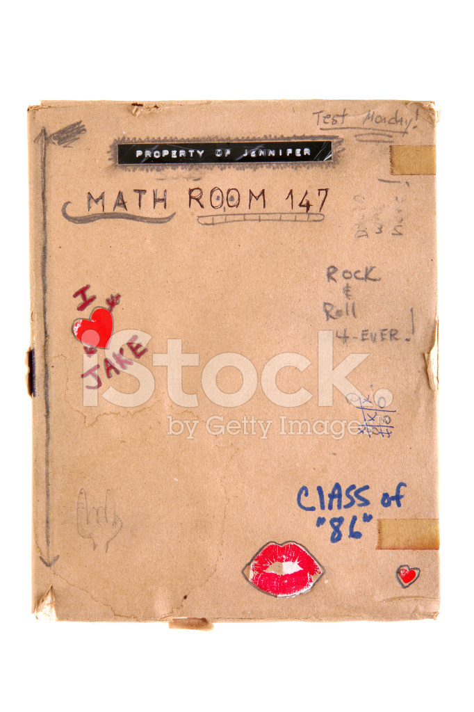 School Book Cover Images : S retro school book with cover stock photos freeimages