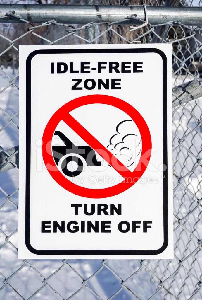 Idle Vrije Zone Turn Motor Uit Teken Stockfoto S Freeimages Com
