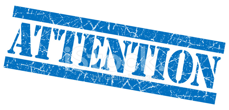 Attention Grunge Blue Stamp Stock Vector Freeimages Com