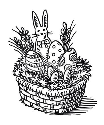 Easter Basket Drawing