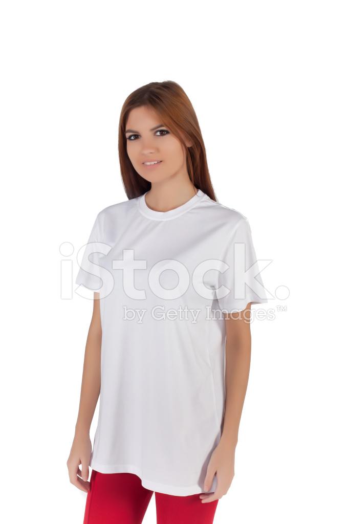 2824734e8 Mulher Branca T Shirt Fotos do acervo - FreeImages.com