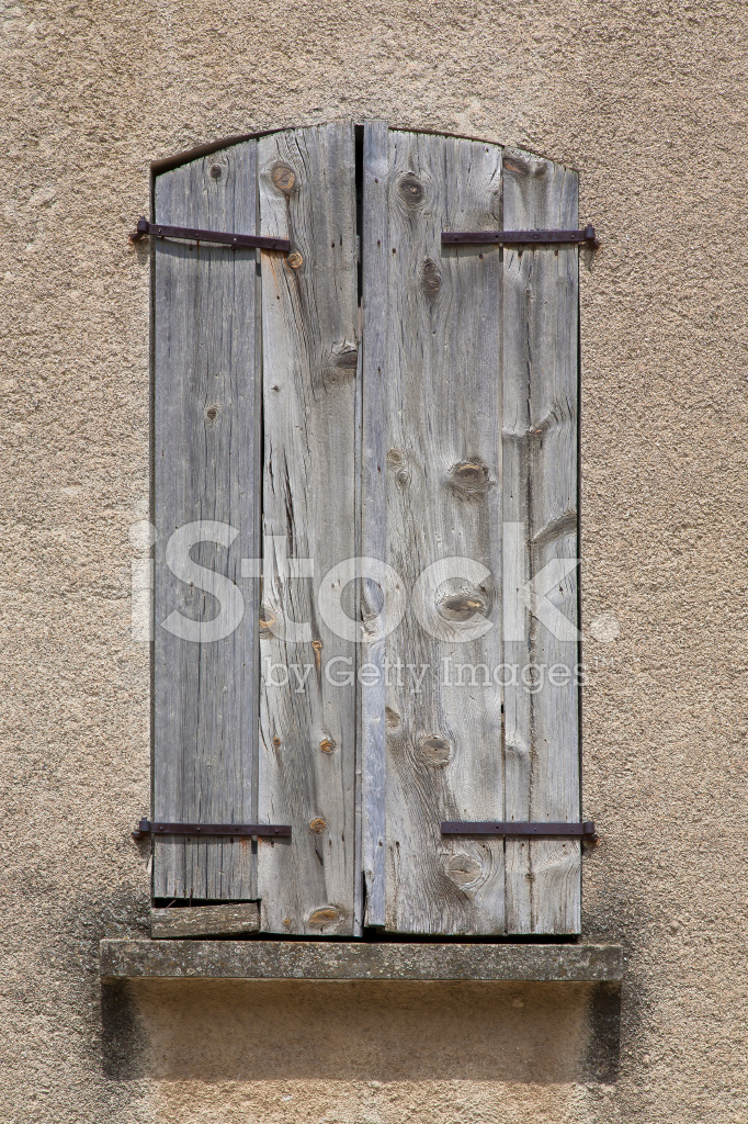Wood Shutters Closed : Closed wooden shutters on window stock photos freeimages