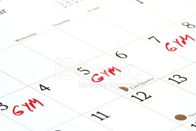 Gym Dates on Calendar Stock Photos - FreeImages com