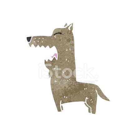 Retro Cartoon Barking Dog Stock Vector Freeimages Com