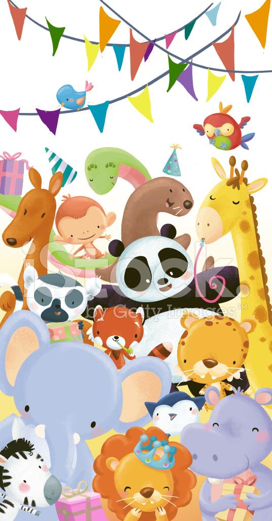 Tiere Geburtstag Stock Vector Freeimagescom