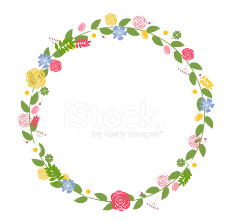 Floral Frame For Wedding And Birthday Vector Illustration