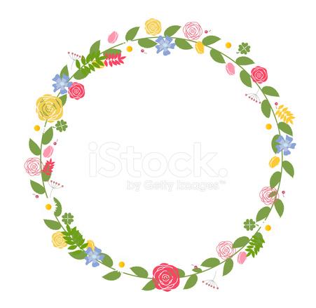 結婚式や誕生日カード ベクトル イラスト花のフレーム Stock Vector