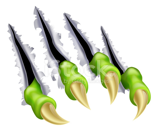 Monster Claw Hand Tearing Stock Vector Freeimages Com