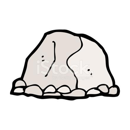 Cartoon large rock stock vector for Dibujo de una piedra para colorear