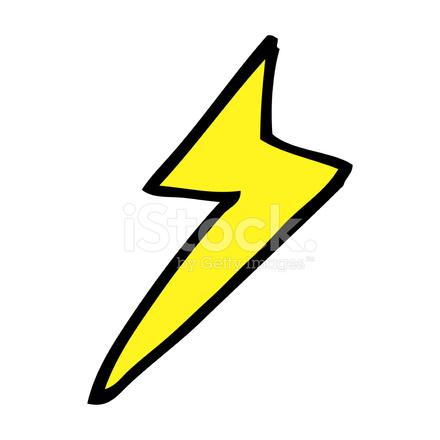 cartoon lightning bolt symbol stock vector freeimages com rh freeimages com lightning bolt cartoon pictures lightning bolt cartoon art