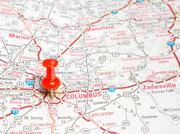 Road Map Columbus Ohio Stock Photos FreeImagescom - Ohio roadmap