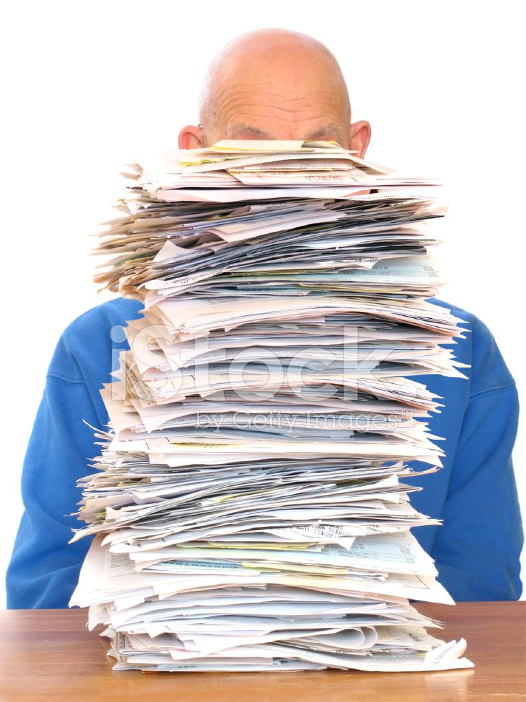 huge pile of paperwork stock photos