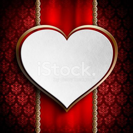 Hintergrund Vorlage Der Karte Am Valentinstag Stock Vector