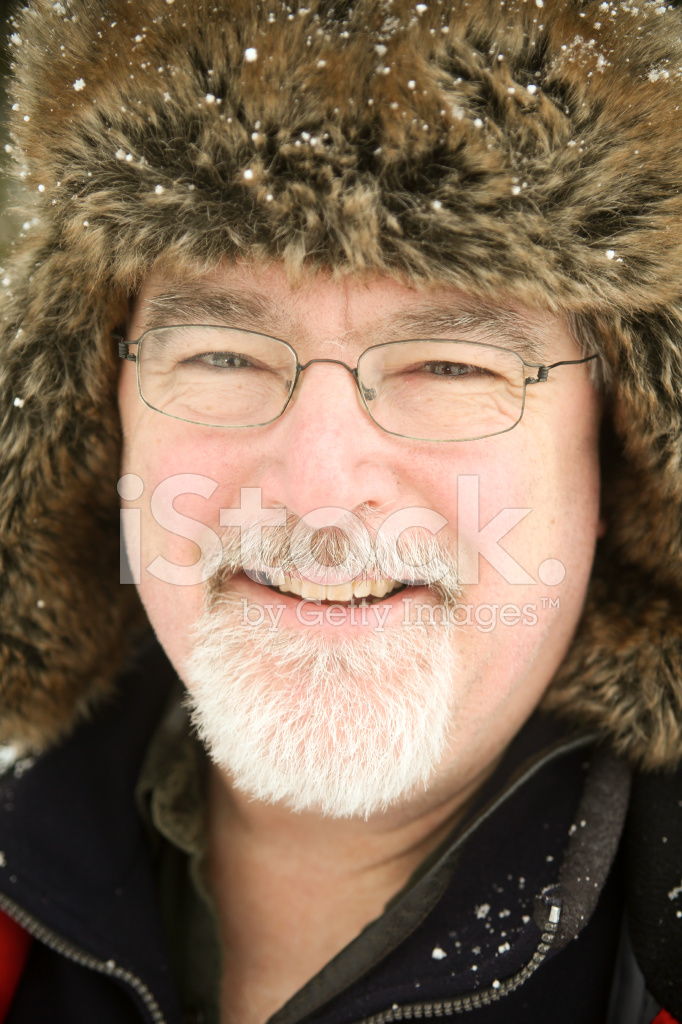 Premium Stock Photo of Smiling Mid Adult Man With Fur Hat on A Winter s Day 89f260733214
