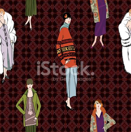 Premium Stock Photo Of Retro Fashion Tileable Wallpaper