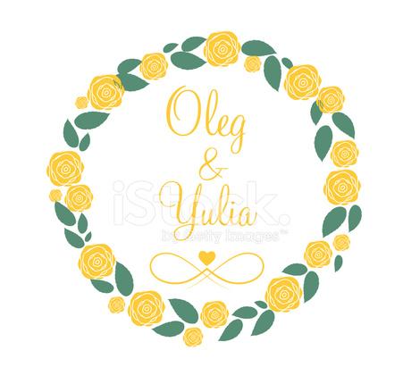 Floral Frame Voor Bruiloft En Verjaardag Vector Illustratie Stock